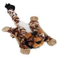 Peluche Jouet en peluche Flatty-Lion 56x28cm non rembourree avec sifflet - Pour chien