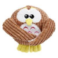 Peluche Jouet en peluche Olly Owl 13x13.5cm avec sifflet et anneau TPR - Pour chien