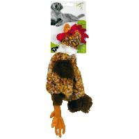 Peluche Jouet mini poule plate 32cm - Pour chien