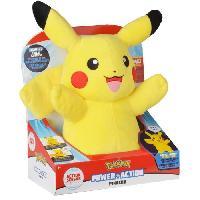 Peluche POKEMON Peluche Pikachu son et lumiere - 30 cm