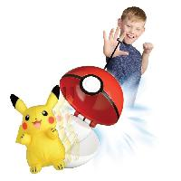 Peluche POKEMON Pokeball Lanceur et Peluche Pikachu - 6 cm