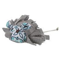 Peluche Souris avec pompons - Peluche et tissu - 8 cm - Pour chat