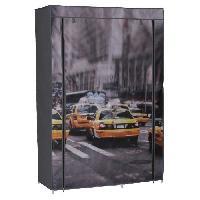 Penderie Souple Armoire penderie souple Nomade 50 New-York 105x45x158 cm gris