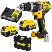 Perceuse DEWALT Perceuse visseuse a percussion Brushless + 2 batteries 18V 5Ah Li-ion + chargeur + coffret Tstak - DCD796P2