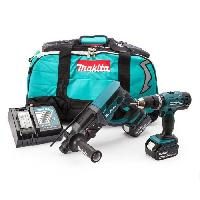 Perceuse MAKITA Perceuse a percussion. perforateur burineur SDS plus DLX2025M avec 2 batteries 18V 4Ah Li-ion et sac de transport