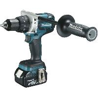 Perceuse MAKITA Perceuse visseuse a percussion - 2 batteries 5 Ah -BL1850B- - Chargeur rapide -DC18RC- - Makpac - DDF481RTJ