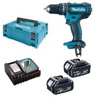 Perceuse MAKITA Perceuse visseuse a percussion DHP482RTJ - 2 batteries 18 V 5 Ah Li-ion - Coffret Makpac Bosch