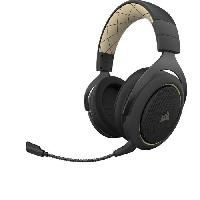 Peripherique Pc CORSAIR Casque Gamer HS70 PRO WIRELESS - Sans Fil - Creme (CA-9011210-EU)