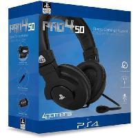 Peripherique Pc Casque Stereo Gaming pour PS4 Noir - A4t