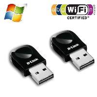 Peripherique Pc D-Link 2 Clés WiFi USB nano 300mbps DWA-131