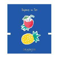 Perle - Bijoux - Badge 2 Broches Coco et Ananas brodees