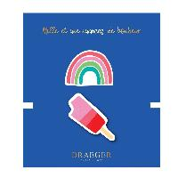 Perle - Bijoux - Badge 2 Broches Rainbow et galce brodees