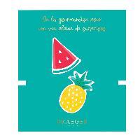 Perle - Bijoux - Badge Broche Ananas et Pasteque brodees