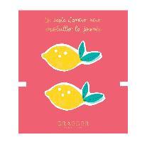 Perle - Bijoux - Badge Broches Citron brodee