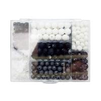 Perle - Bijoux - Badge PANDURO Perles noir&blanc