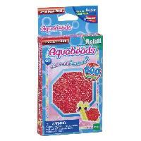 Perle - Bijoux - Badge Perles Multi-Facettes Rouges