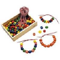 Perle - Bijoux - Badge SAPIN MALIN Boîte de 125 Grosses Perles en Bois