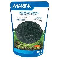 Perle - Bille De Verre - Gravier - Rocher - Pierre Pour Quarium - Terrarium - Vivarium MARINA Gravier Deco noir - 450 g - Pour aquarium