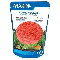 Perle - Bille De Verre - Gravier - Rocher - Pierre Pour Quarium - Terrarium - Vivarium MARINA Gravier Deco orange - 450 g - Pour aquarium