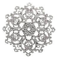 Perle - ?il De Chat - Fossile - Polaris - Breloque - Cabochon - Demi-perle Lot de 4 Separateurs rosace Agente - 30 mm