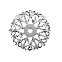 Perle - ?il De Chat - Fossile - Polaris - Breloque - Cabochon - Demi-perle Lot de 4 Separateurs rosace Argente - 20 mm