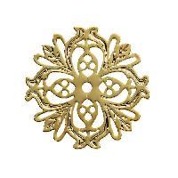 Perle - ?il De Chat - Fossile - Polaris - Breloque - Cabochon - Demi-perle Lot de 4 Separateurs rosace Dore - 25 mm
