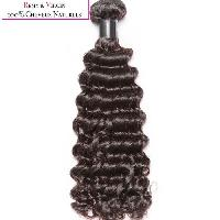 Perruque - Postiche - Faux Cheveux - Extensions - Colle Cheveux Tissage bresilien - Cheveux humains - Boucle 35cm - Noir naturel