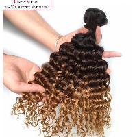 Perruque - Postiche - Faux Cheveux - Extensions - Colle Cheveux Tissage bresilien - Cheveux humains - Boucle 55cm - Ombre caramel