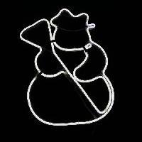 Personnages Et Animaux De Noel Bonhomme de neige Neon 360 LED transparent