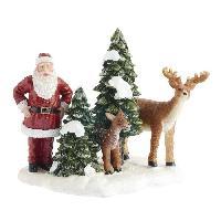 Personnages Et Animaux De Noel Personnage de Noel - Polyresine - 8.5x8x8.5 cm - Multicolore