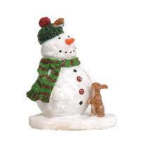 Personnages Et Animaux De Noel Personnage de Noel Melty le bonhomme de neige - Polyresine - 5.5x4.5x7 cm - Multicolore