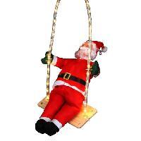 Personnages Et Animaux De Noel Personnage de Noel Pere Noel grimpeur sur balancoire lumineuse 60cm