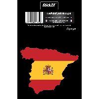 Personnalisation - Decoration Vehicule 1 Sticker Espagne - STP7C Generique