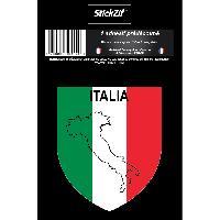 Personnalisation - Decoration Vehicule 1 Sticker Italie - STP4B