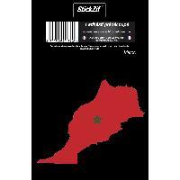 Personnalisation - Decoration Vehicule 1 Sticker Maroc - STP8C