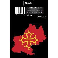 Personnalisation - Decoration Vehicule 1 Sticker Region Midi-Pyrenee - STR7C
