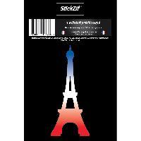 Personnalisation - Decoration Vehicule 1 Sticker Tour Eiffel - bleu blanc rouge - STV14S Generique
