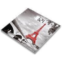 Pese-personne - Impedancemetre - Balance BEURER 756.31 Pese-personne en verre - motif Paris