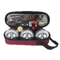 Petanque - Bowling CHRONOSPORT Set 1 Triplette avec Sacoche et Mesureur Et Cochonnet - Generique