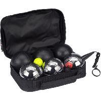 Petanque - Bowling GETGO Set 6 boules de petanque Deluxe acier chrome et mat