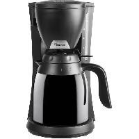 Petit Appareil De Cuisson BESTRON ACM730TD Cafetiere filtre isotherme - 2 carafes - 10 tasses - 800W - Arret automatique - Noir