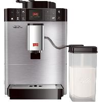 """Petit Dejeuner - Cafe ABSAAR  F58/0-100 - Machine a café automatique avec buse vapeur """"capuccino""""-15 bar-10 boissons différentes-Ecran HD-Acier inoxydable - Abc Carpet & Home"""