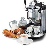Petit Dejeuner - Cafe ARIETE 1387 Novecento Machine espresso + dosette ESE - 1150 W - 15 bars - Fonction Cappucino