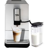 Petit Dejeuner - Cafe BEKO CEG5331X - Machine Expresso Automatique - 1350W - Broyeur de café en grains intégré - Carafe a Lait - Façade Inox