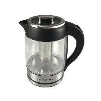 Petit Dejeuner - Cafe BEPER BB.103 Bouilloire électrique en verre - 1.8 L - 2200 W - Noir