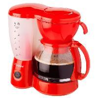 Petit Dejeuner - Cafe BESTRON ACM6081R Cafetiere filtre - Rouge