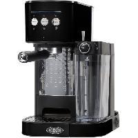 Petit Dejeuner - Cafe BORETTI B400 Machine a expresso 15 bars - Cappuccino et latte avec mousse de lait - Noir