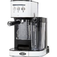 Petit Dejeuner - Cafe BORETTI B401 Machine a expresso 15 bars - Cappuccino et latte avec mousse de lait - Blanc