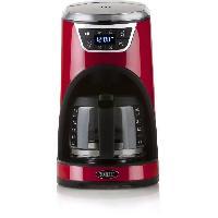 Petit Dejeuner - Cafe BORETTI B411 Cafetiere programmable - 1000W - 1.5 L : 12 tasses - Rouge