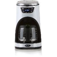 Petit Dejeuner - Cafe BORETTI B412 Cafetiere programmable - 1000W - 1.5 L : 12 tasses - Blanc